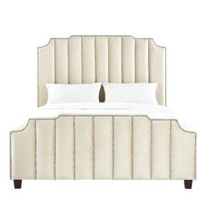 Elof Velvet Upholstered Panel Bed by Willa Arlo Interiors