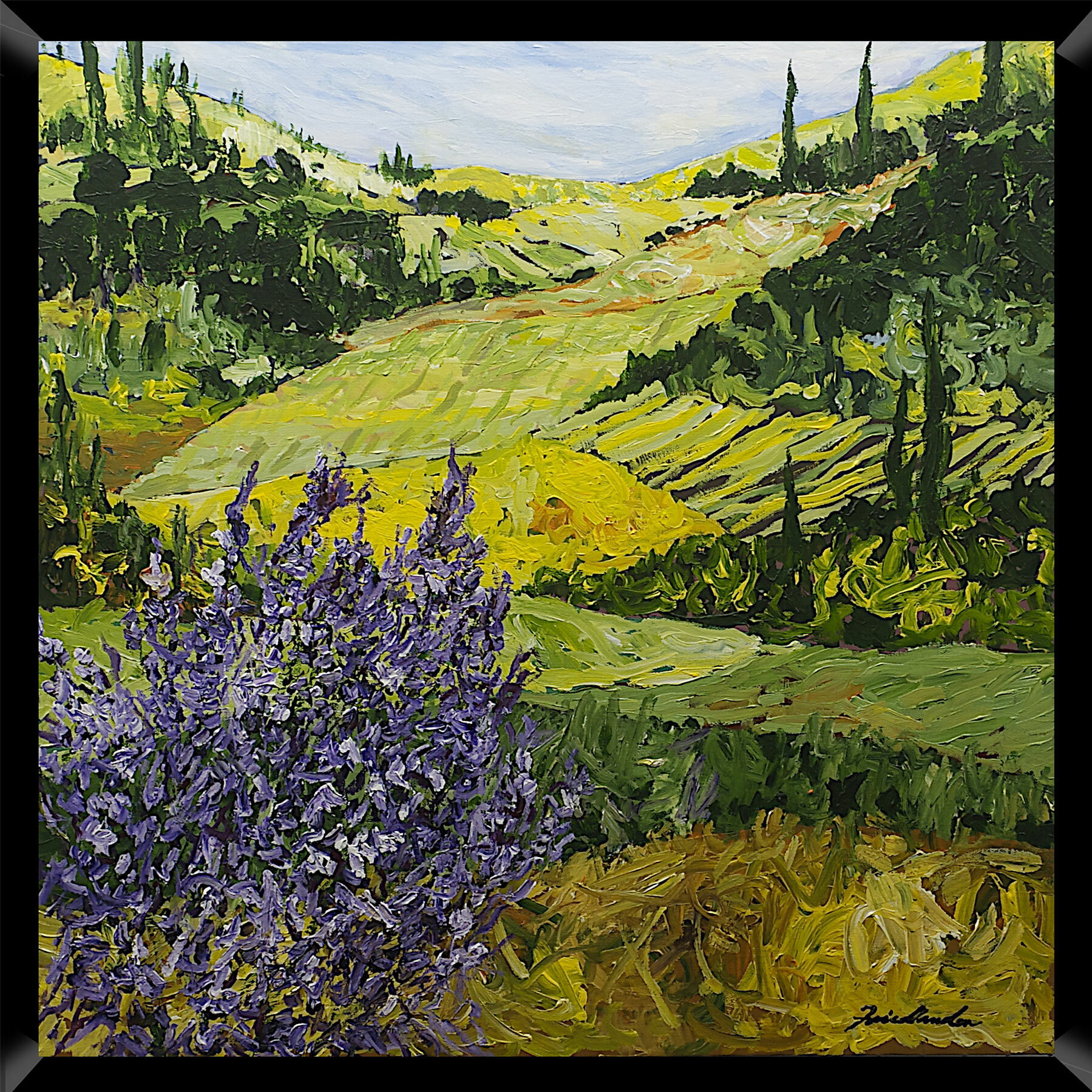 PTM Images Tranquil Landscape Framed Painting Print | Wayfair