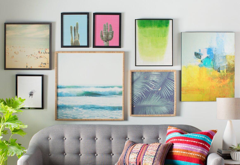 Beachcrest Home Ride Waves Framed Wall Art & Reviews | Wayfair