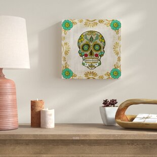 Ornate Day Of The Dead I Graphic Art On Wred Canvas