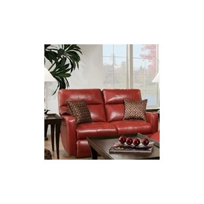 Savannah Leather Reclining Loveseat by South..