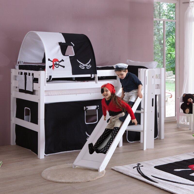 relita hochbett eliyas mit rutsche 90 x 200 cm. Black Bedroom Furniture Sets. Home Design Ideas