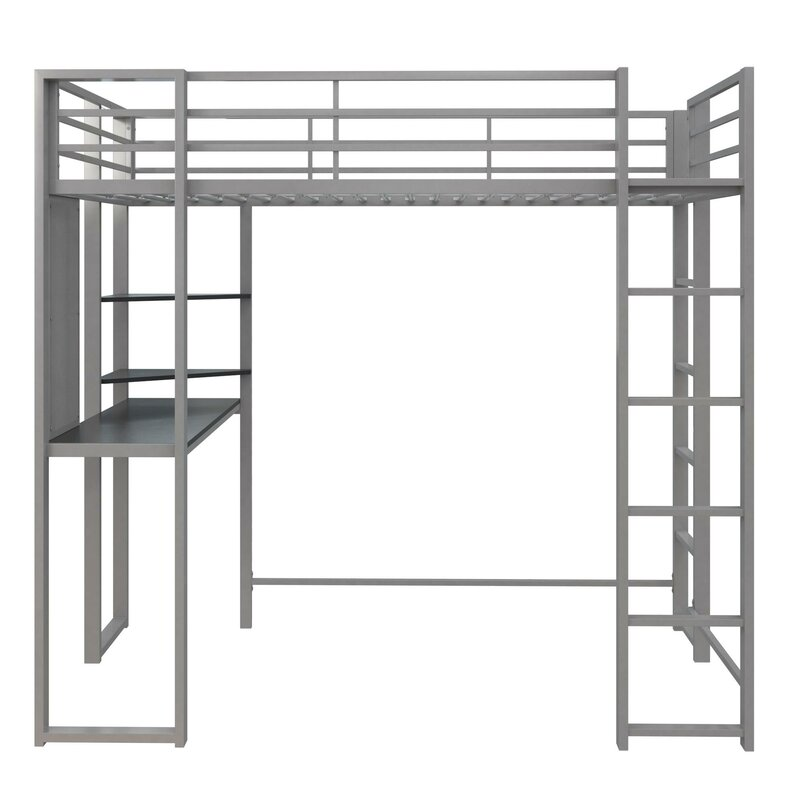 Genial Aime Full Loft Bed With Bookcase
