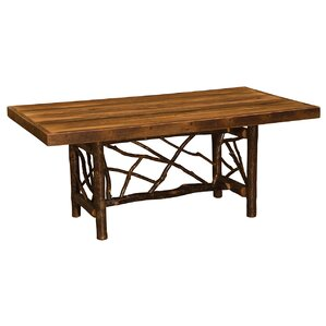 Hickory Twig Log Dining Table by Fireside..