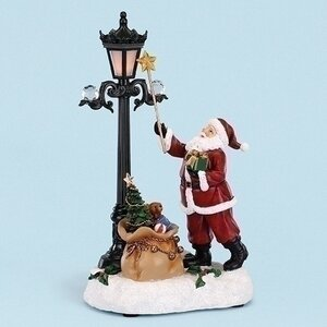 Musical LED Santa Lighting Lamp Figurine