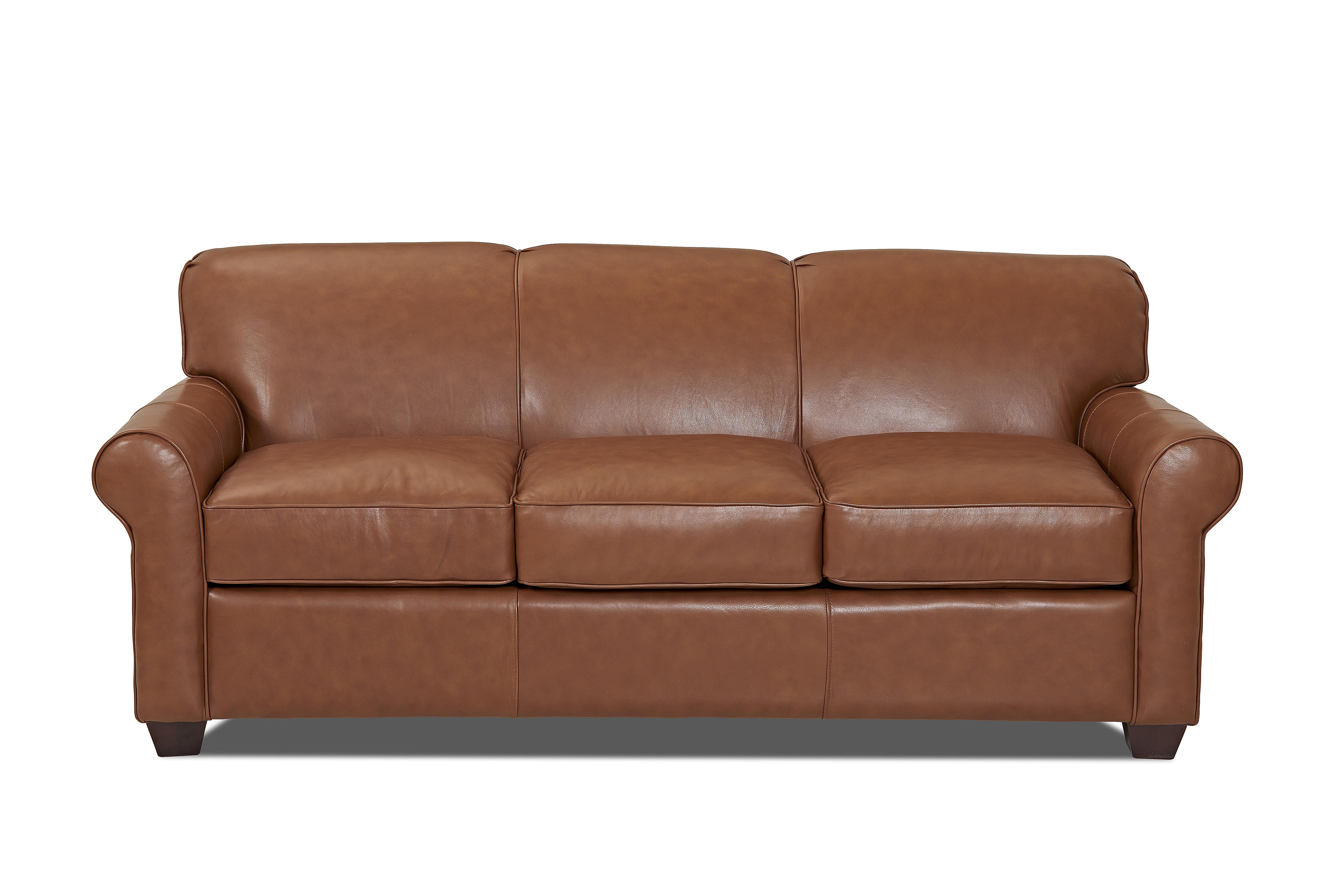 Wayfair Custom Upholstery Jennifer Leather Sofa Reviews Wayfair