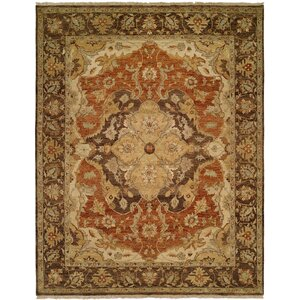 Busan Hand-Knotted Brown/Ivory Area Rug