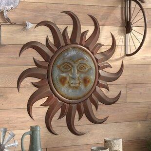 6a92600484c10 Industrial Sun Face Wall Decor