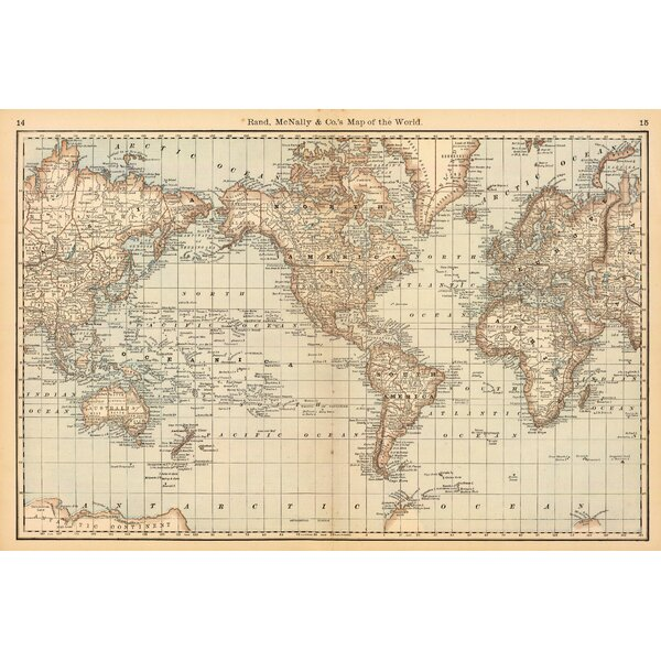 Awesome Swag Paper Map Of The World Wall Mural U0026 Reviews | Wayfair Part 32