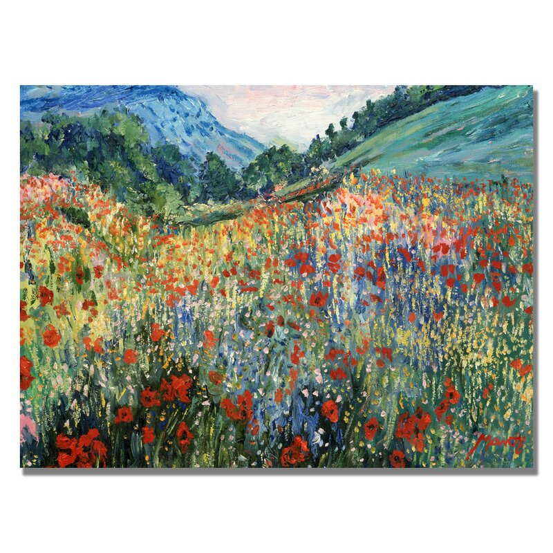 Charlton Home Field Of Wild Flowers Painting Print On