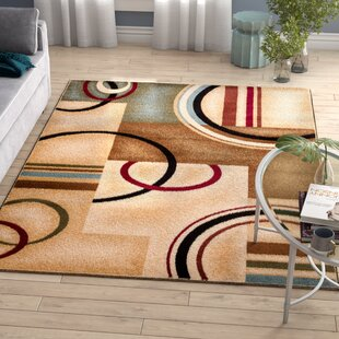 Bellair Ivory Arcs And Shapes Area Rug