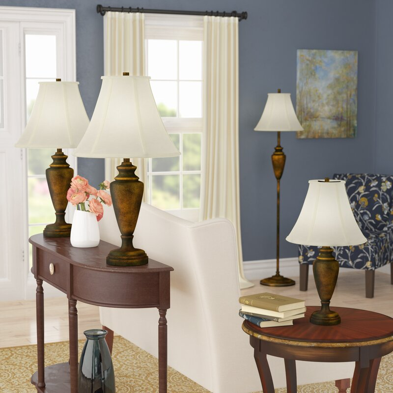 Lincolnshire 4 Piece Table and Floor L& Set & Alcott Hill Lincolnshire 4 Piece Table and Floor Lamp Set \u0026 Reviews ...