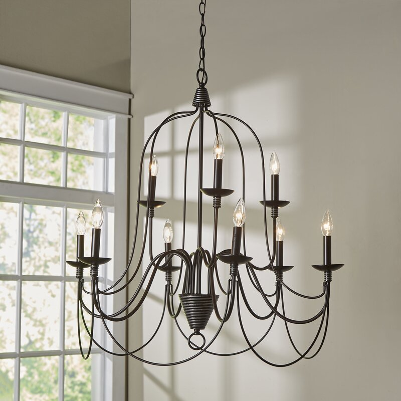 Wayfair Dining Room Lighting: Red Barrel Studio Big Sky 9-Light Candle-Style Chandelier