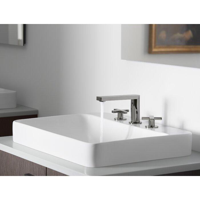 Charmant Vox Rectangular Vessel Bathroom Sink With Overflow