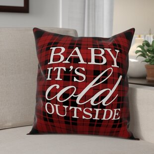 Baby Itu0027s Cold Outside Throw Pillow
