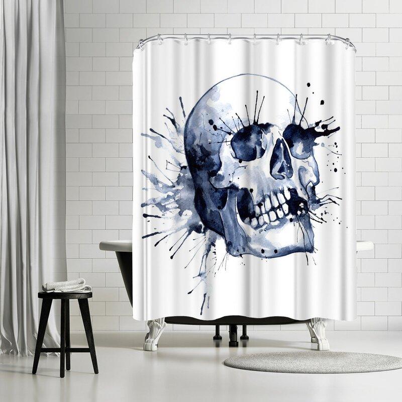 Sam Nagel Skull Shower Curtain