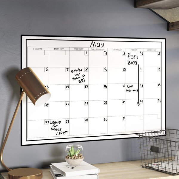 Latitude Run Calendar Whiteboard Wall Decal Reviews Wayfair