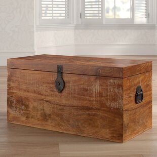 Antiques Chests & Trunks Vintage Storage Box Crate Old Rustic Trunk Chest Coffee Table