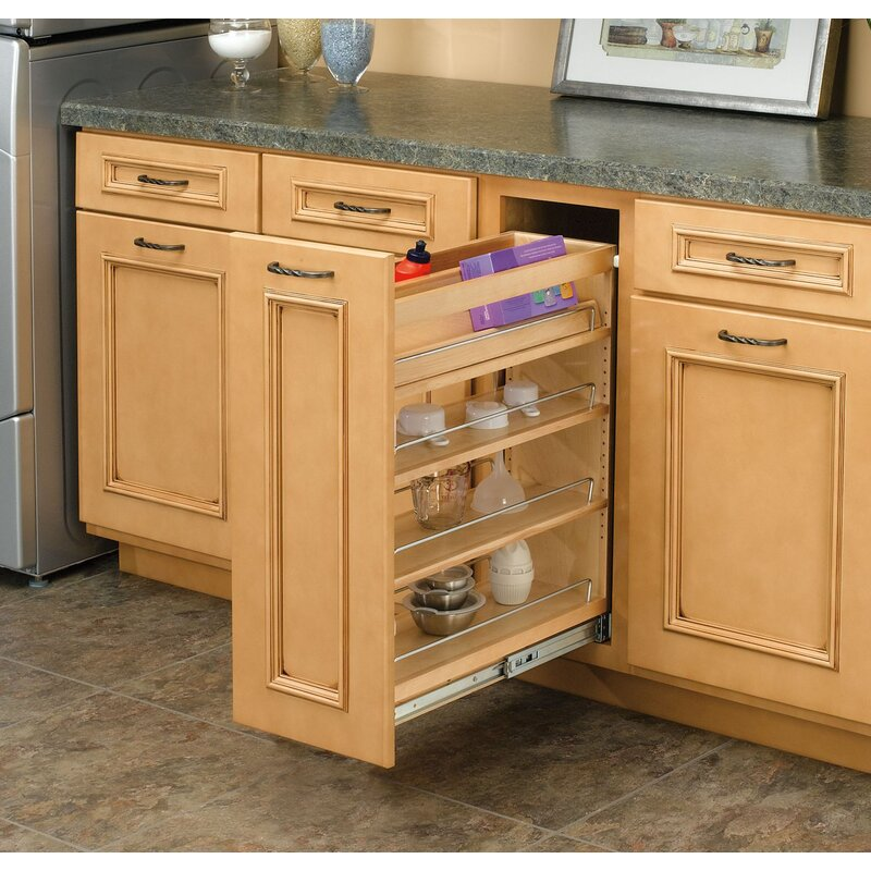 """Pull Out Pantry Hardware: Rev-A-Shelf 5"""" Base Cabinet Organizer Pull Out Pantry"""