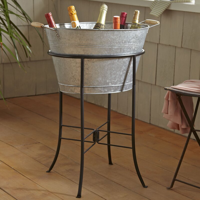 Birch Lane™ Cawley Beverage Tub with Stand & Reviews | Birch Lane