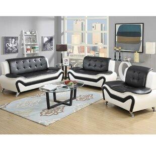 Modern Living Room Furniture White white living room sets you'll love | wayfair