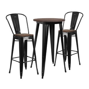 Mullenax Round 3 Piece Dining Set