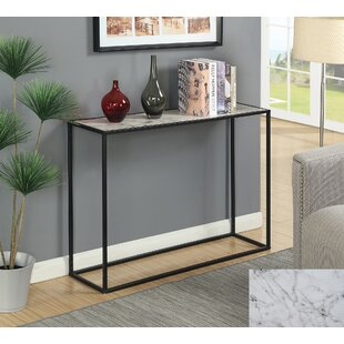 Faux marble top sofa table wayfair theydon faux marble console table watchthetrailerfo