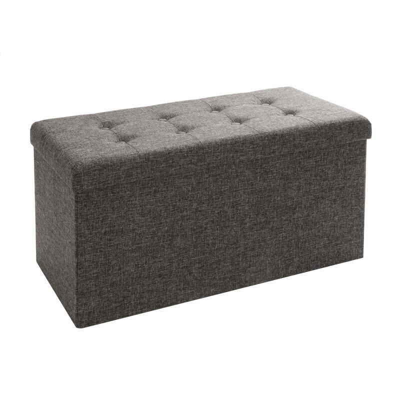 default_name - Zipcode Design Zosia Tufted Foldable Storage Cube Ottoman