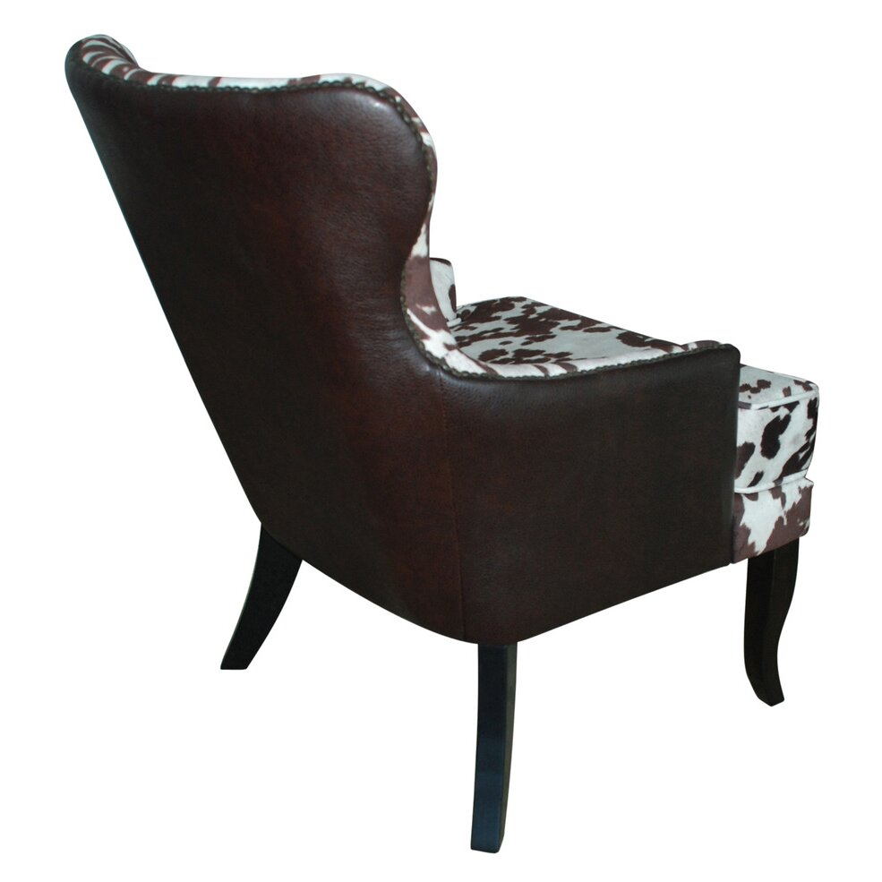 !nspire Faux Cowhide Accent Wing back Chair  Reviews