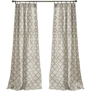 Dauberville Geometric Room Darkening Rod Pocket Curtain Panels (Set of 2)