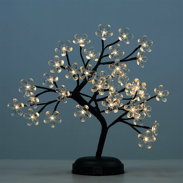 half off 52614 b5955 LED 36 Light Crystal Flower LED Bonsai Tree
