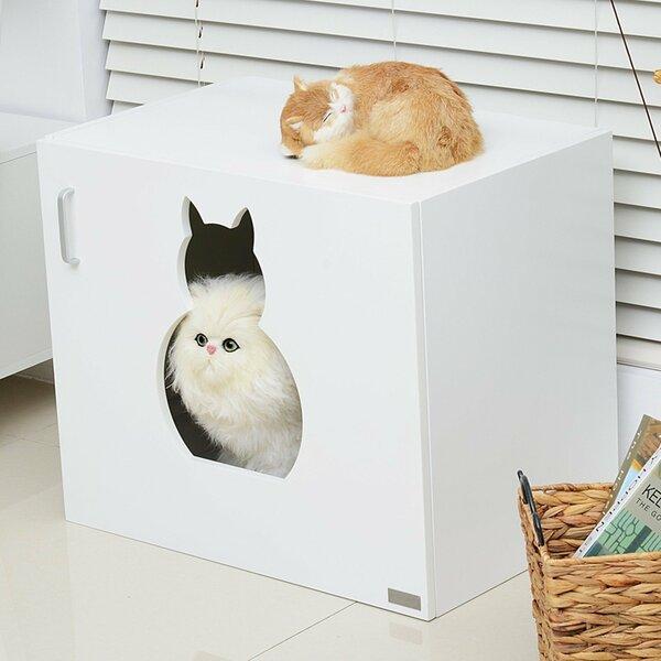 Pawhut Wooden Cat Litter Box Amp Reviews Wayfair Co Uk