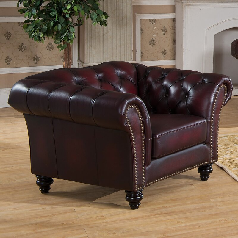 Canterbury Leather Chesterfield Armchair