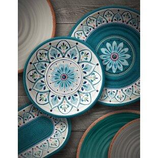 Baeza Melamine 12 Piece Dinnerware Set Service For 4