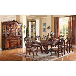 mccullers double pedestal drop leaf dining table - Drop Leaf Kitchen Table