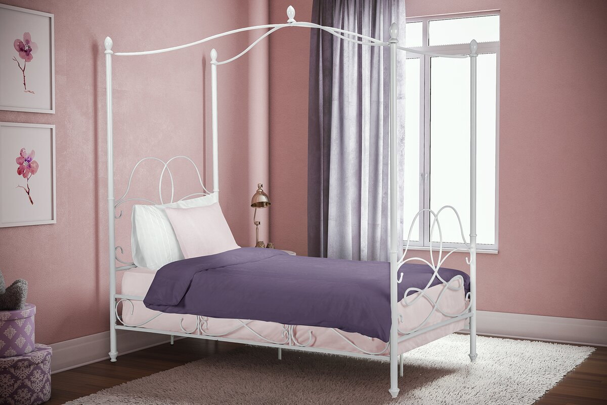 Dianna Twin Canopy Bed & Viv + Rae Dianna Twin Canopy Bed u0026 Reviews | Wayfair