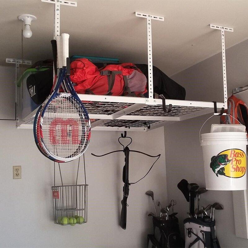 Overhead Garage Storage Adjustable Ceiling Storage Rack