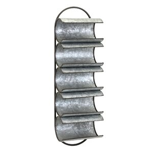 Alfred Galvanized 5 Bottle Wall Mounted Wine Rack