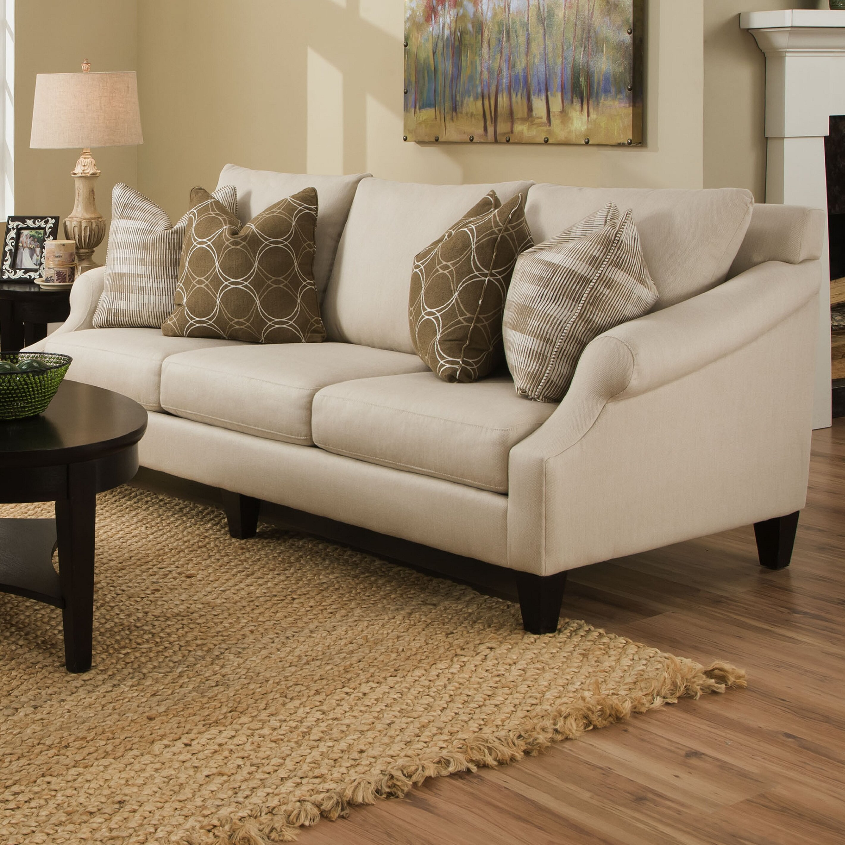 Molly Extra Long Pique Flax Sofa. By Bauhaus