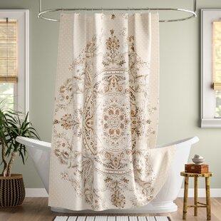 Shera Printed Cotton Single Shower Curtain