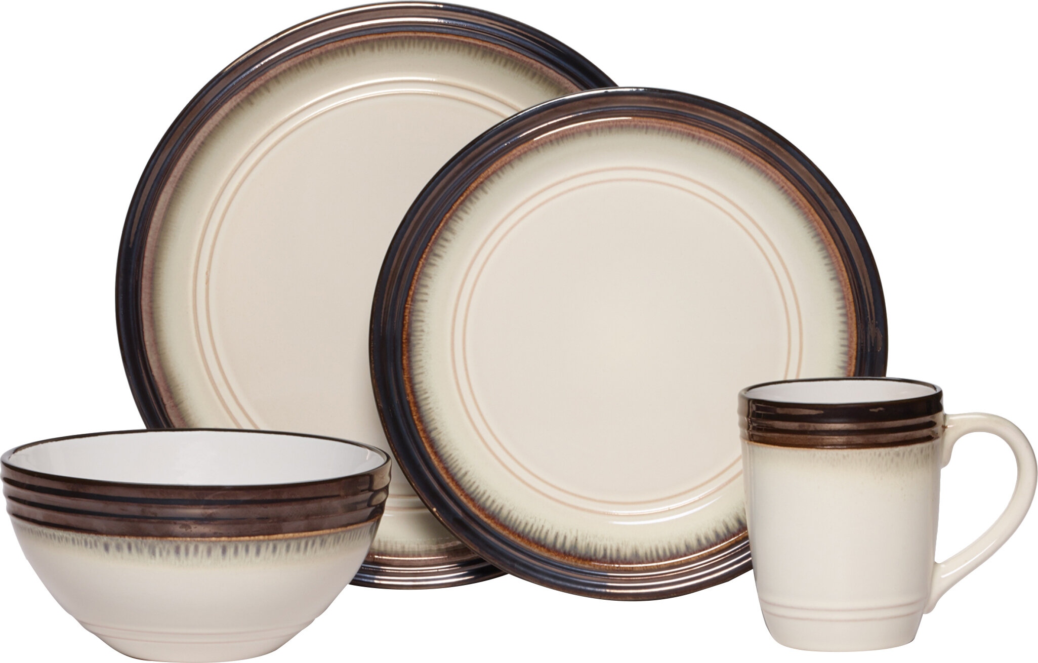 Mikasa Gourmet Basics Bailey 16 Piece Dinnerware Set Service for 4 u0026 Reviews | Wayfair  sc 1 st  Wayfair & Mikasa Gourmet Basics Bailey 16 Piece Dinnerware Set Service for 4 ...