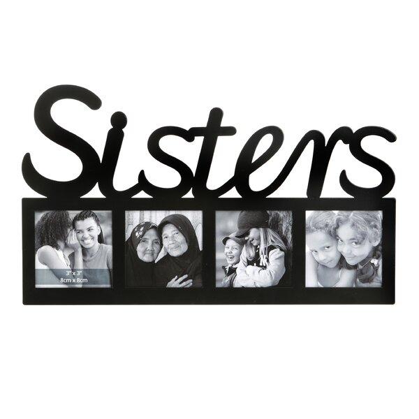 Latitude Run Hepler Sisters Letter Multi-Opening Picture Frame | Wayfair