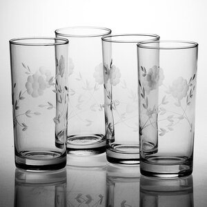 Janet Hand-Cut 15 oz. Highball Glass (Set of 4)