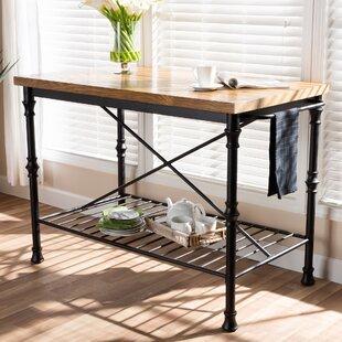 Alejo Vintage Rustic Industrial Prep Table