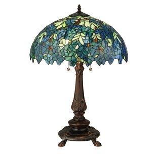 Meyda tiffany table lamps youll love wayfair nightfall wisteria 26 table lamp by meyda tiffany aloadofball Gallery