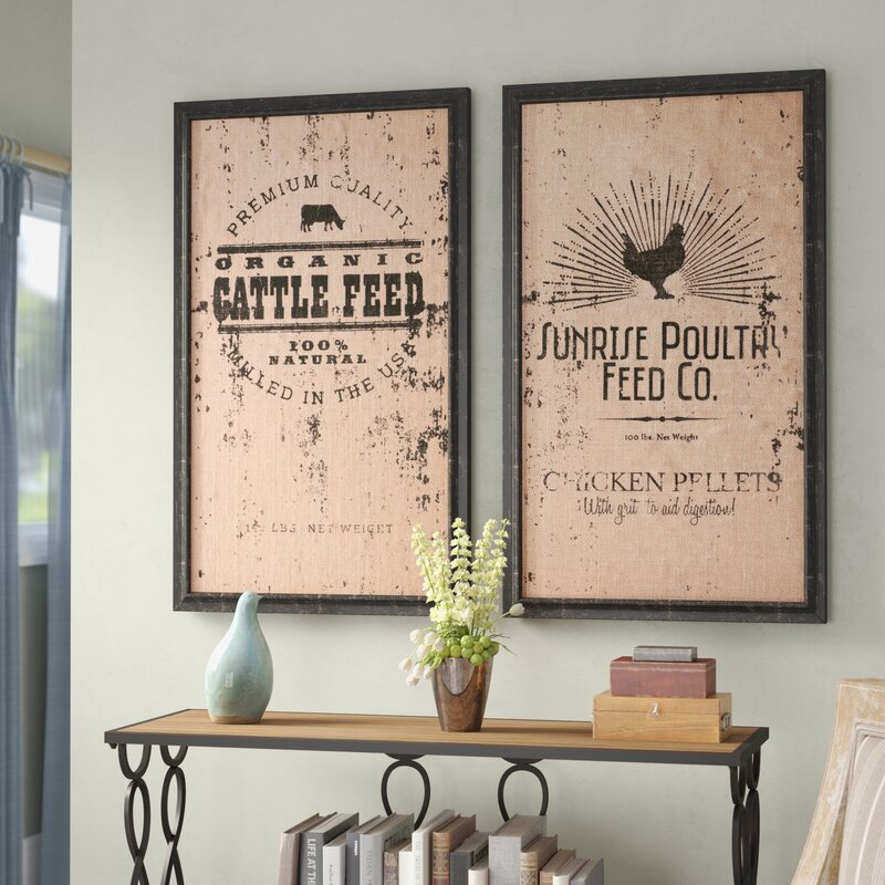 Laurel Foundry Modern Farmhouse 2 Piece Farmhouse Wall Decor Set