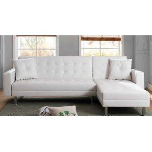 Modern Contemporary Modern White Leather Sofa Allmodern