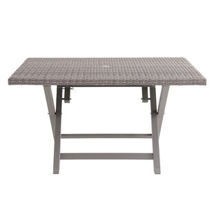 folding outdoor dining set small specht person folding resin wicker dining table patio tables youll love wayfair