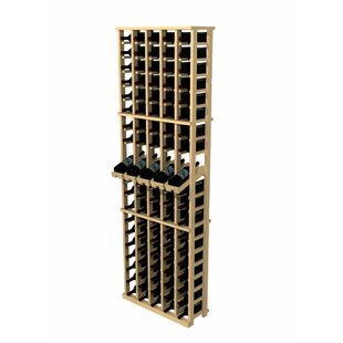 Rustic Pine 100 Bottle Wall Mounted Wine Rack