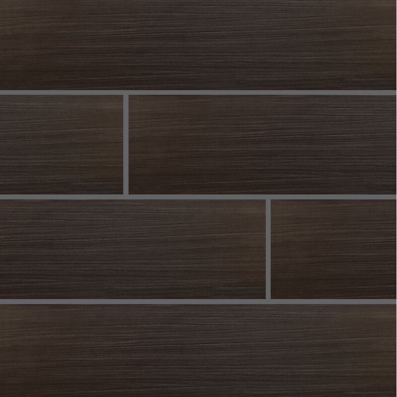 Msi Sygma Ebony 6 X 24 Ceramic Wood Look Tile In Black Wayfair
